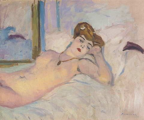 nu au divan (nude on couch) by charles camoin