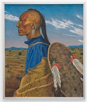 pawnee with painted robe by antoine tzapoff