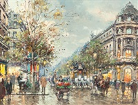 grands boulevard, paris by antoine blanchard