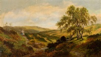 taking daddy's dinner - view on cannock chase by henry w. henley