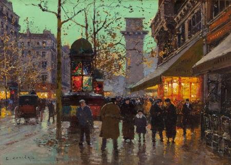 boulevard et porte saint martin by edouard léon cortès