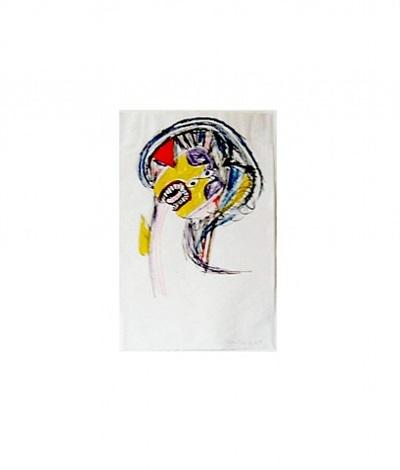 anthropomorphic head, opus d by alan davie