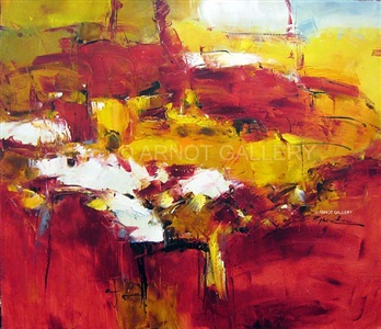 abstract in colors of warmth by christian nesvadba