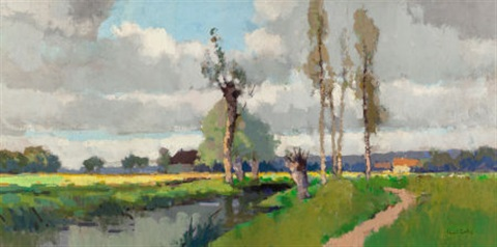 paysage en normandie by edouard léon cortès