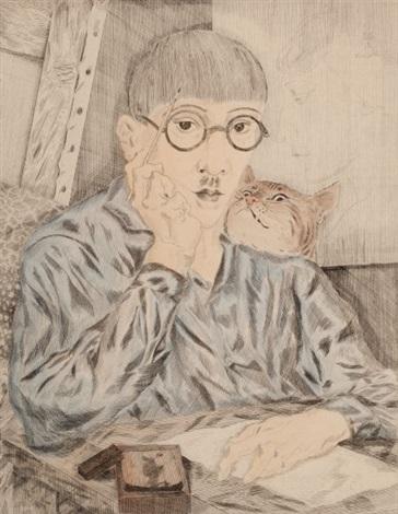 portrait de lartiste by léonard tsuguharu foujita