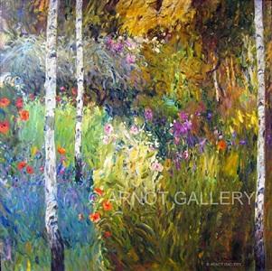 wild gardens by the birches by malva