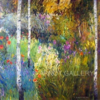 wild gardens by the birches by malva