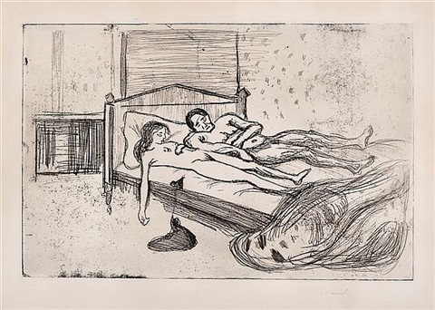 dobbeltselvmord (double suicide, dead lovers, the dead) by edvard munch