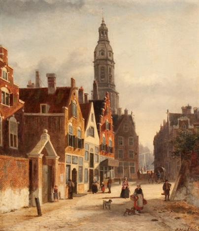 cityscape in amsterdam by john f hulk