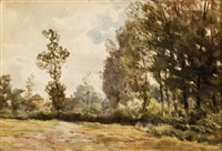 dutch country landscape by jan willem van borselen