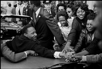 usa. baltimore, md. october 31, 1964. dr. martin luther king, jr. being greeted on his return to the us after receiving the nobel peace prize. by leonard freed