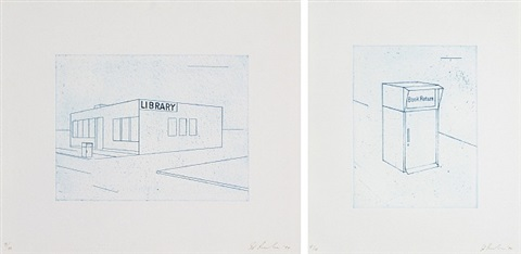 book return and library by ed ruscha