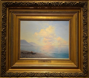 clouds over a calm sea by ivan konstantinovich aivazovsky
