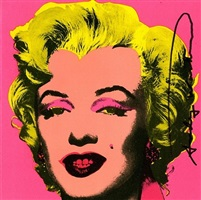 marylin invitation card (published by castelli) by andy warhol