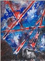 von rot durchkreuztes blau by fred thieler