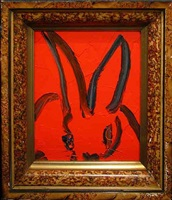 red bunny by hunt slonem