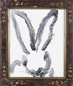 white bunny by hunt slonem