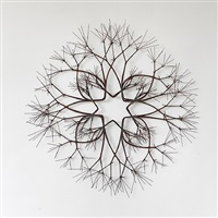 eight-branched bronze wire form by ruth asawa
