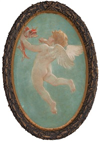cupids from the grand salon of the steamship city of detroit iii (pair) by william de leftwich dodge