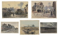 world war i drawings produced at the front (15 works) by émile appay