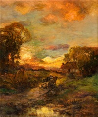 sunset at close of day by charles p. appel