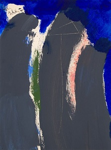 untitled (grey, pink, green, blue) by robert motherwell