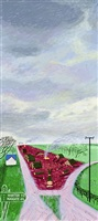 less trees near warter by david hockney