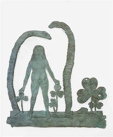 teaching snakes with woman by kiki smith