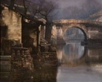 bridge reflection (suzhou) by chen yifei
