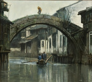early morning, suzhou by chen yifei