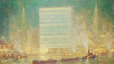 united nations from the east river by johann berthelsen