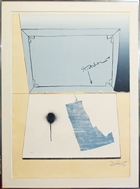 hinged canvas, fragment - according to what by jasper johns