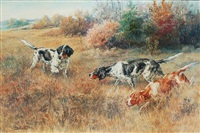 setters on the hunt by edmund henry osthaus