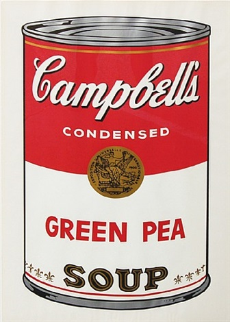 green pea (from campbell's soup i) by andy warhol