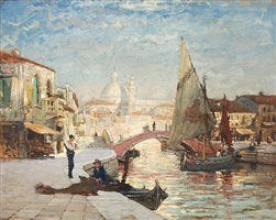 afternoon light, venice by paul cornoyer