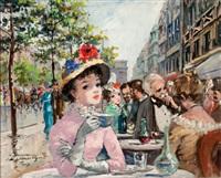 l'avenue des champs-élysées, paris by françois gerome