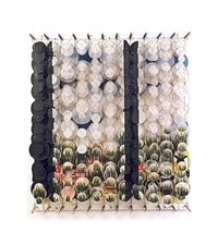 landscape with two black bars by jacob hashimoto