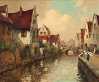 canal scene by george thompson pritchard