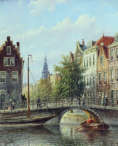 amsterdam canal by johannes franciscus spohler