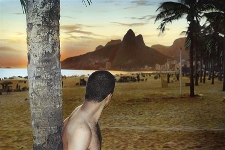 self-portrait with the sunset, rio de janeiro by youssef nabil