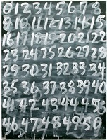 counting: 0-50 by mel bochner