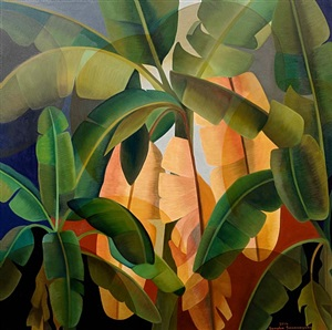 banana grove by senaka senanayake