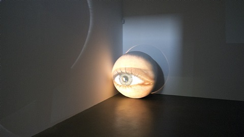 obscura (installation view) by tony oursler
