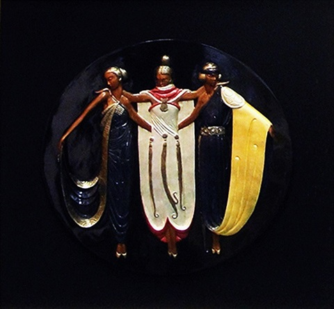ladies in waiting (sc) by erté