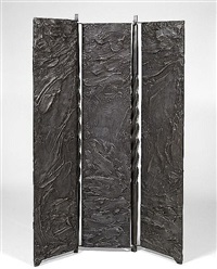 three panel screen by beverly pepper