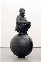 man with ball 1 by wang shugang