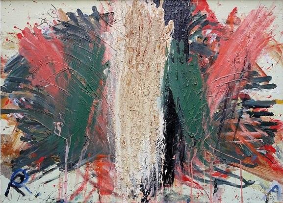 fingermalerei(grün/rot) by arnulf rainer