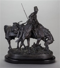 a zaporozhian cossack after battle by evgeni evgen'evich lansere