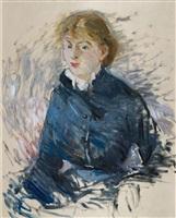 portrait de louise riesener by berthe morisot