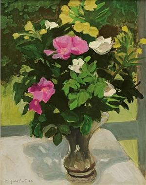 rosa rugosa by fairfield porter
